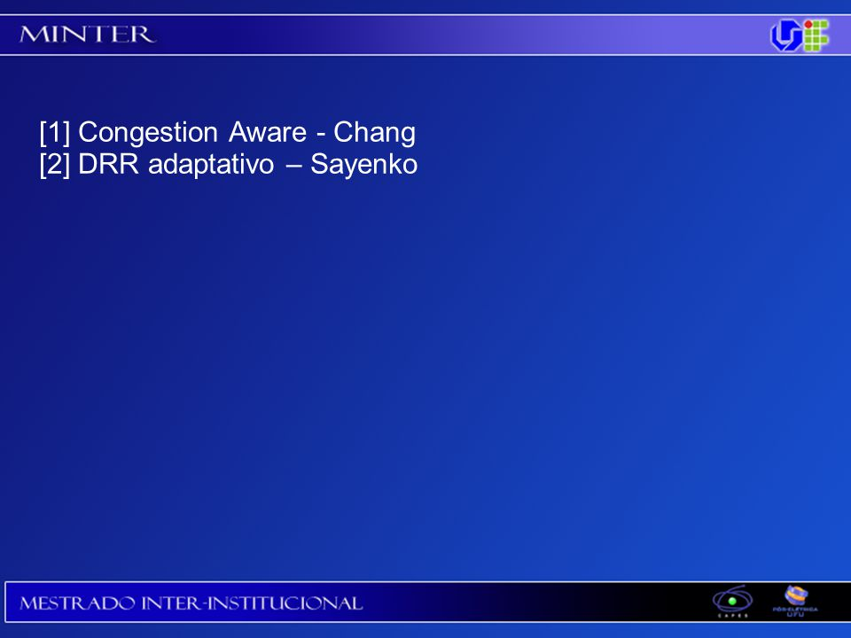 [1] Congestion Aware - Chang